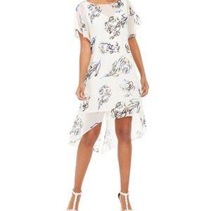 Adrianna Papell Beige Print Dress